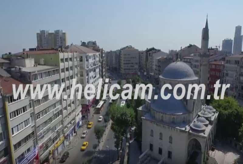Şişli Camii Havadan Stok Video
