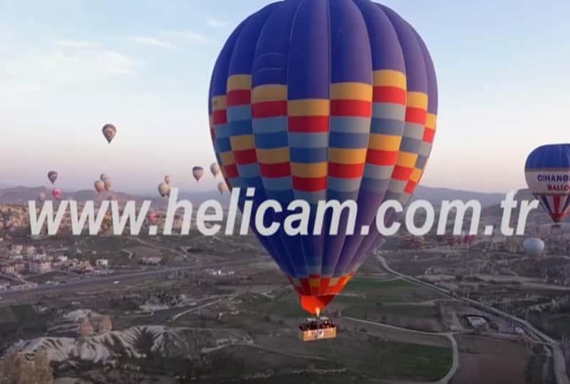 Kapadokya Balon Stok Video