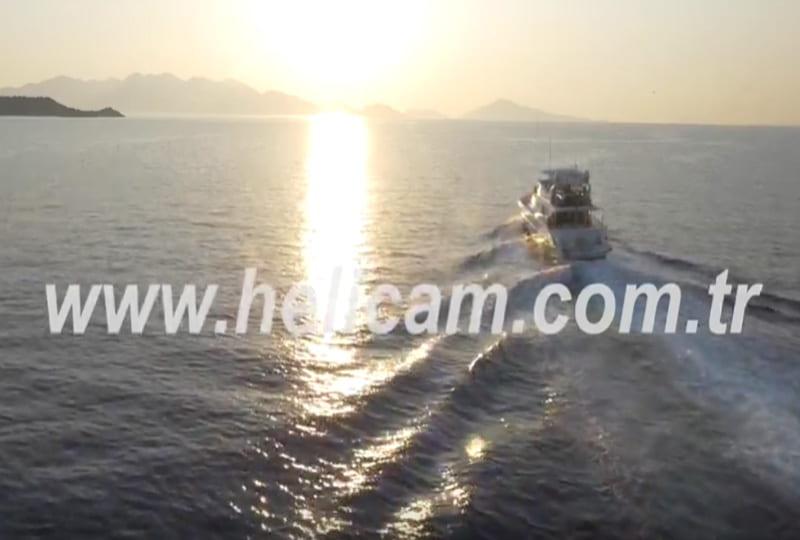 Denizde Gün Batımı Stok Video