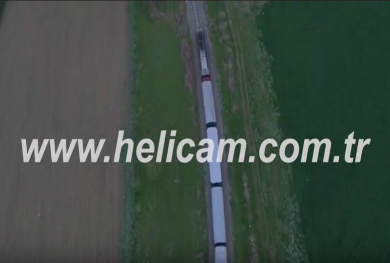 Tren Havadan Stok Video